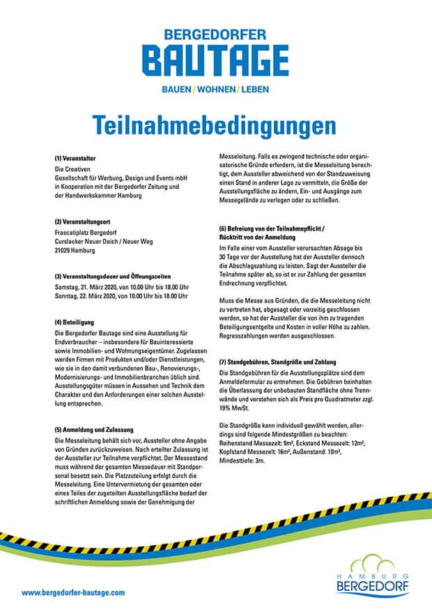 Bergedorfer Bautage Preview Teilnahmebedingungen