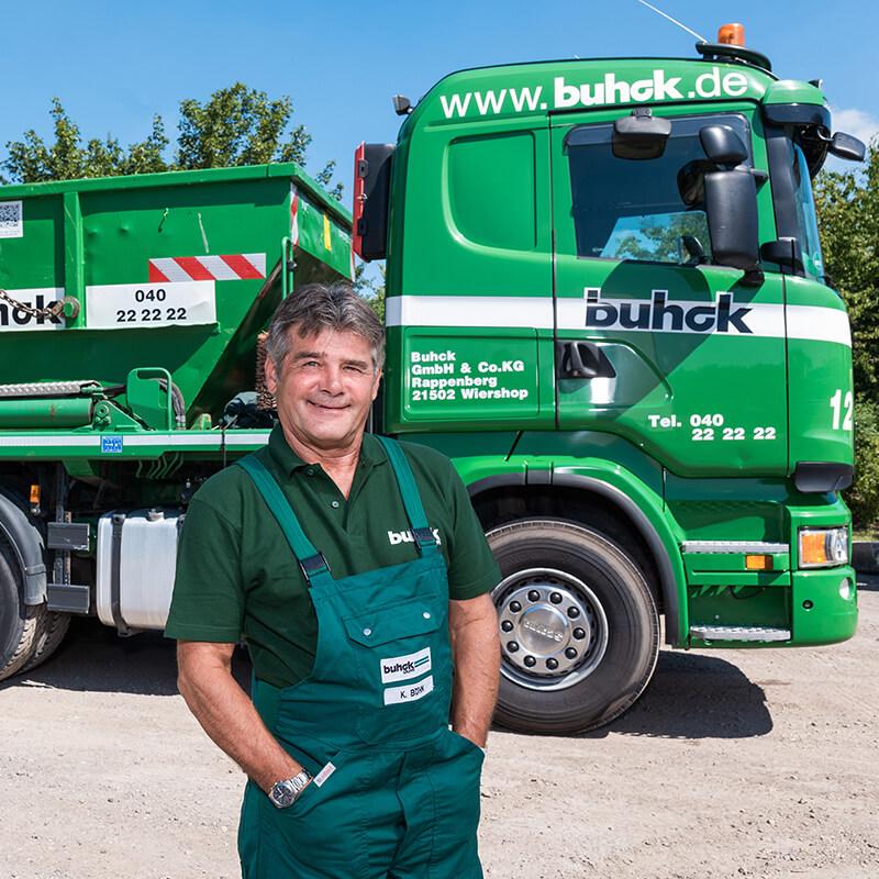 Bergedorfer Bautage Buhck Gruppe LKW mit Mitarbeiter