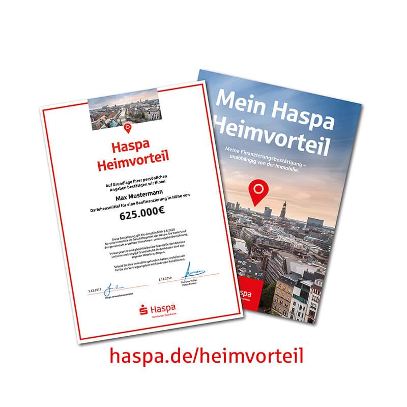 Bergedorfer Bautage Haspa – Hamburger Sparkasse Heimvorteil Zertifikat Mappe