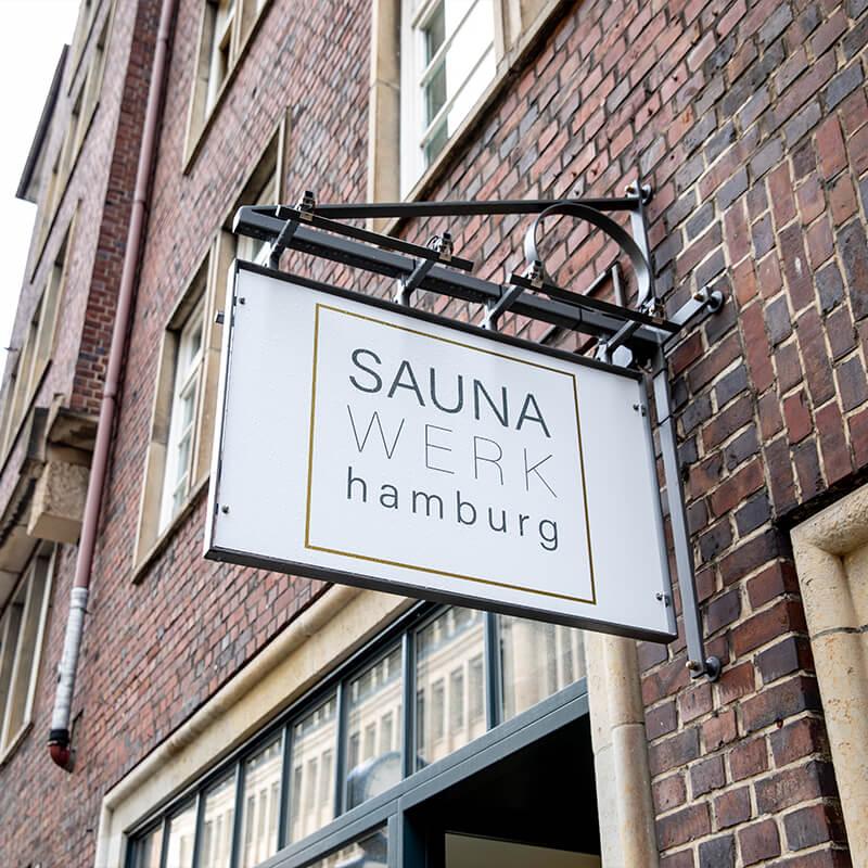 Bergedorfer Bautage SAUNA WERK hamburg Logo Schild