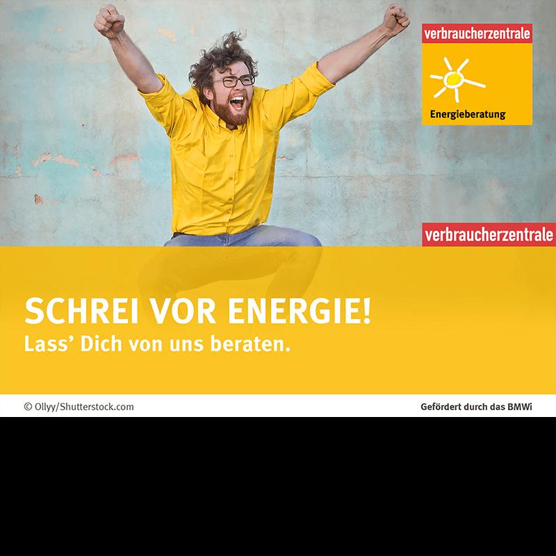 Energieberatung der Verbraucherzentrale Hamburg Schrei vor Energie