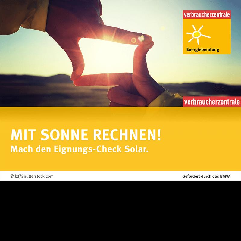 Energieberatung der Verbraucherzentrale Hamburg Mit Sonne rechnen!