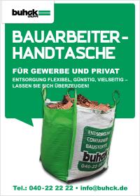 Bergedorfer Bautage Buhck Gruppe Bauarbeiterhandtasche Flyer
