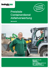 Bergedorfer Bautage Buhck Gruppe Preisliste Container