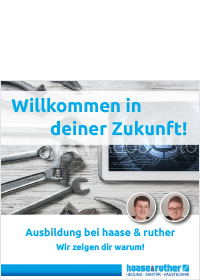 Bergedorfer Bautage haase & ruther Azubi Flyer