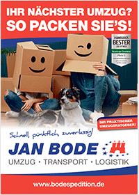 Bergedorfer Bautage Spedition Jan Bode Unternehmensflyer