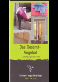 Bergedorfer Bautage Aussteller Tischlerei Vogel Modellbau Flyer Ansicht