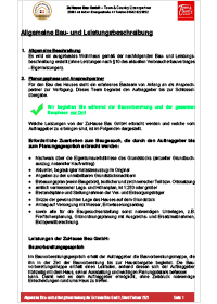 Bergedorfer Bautage ZuHause Bau GmbH Bauleistungsbeschreibung Titel