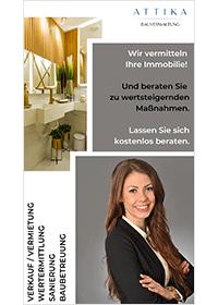 ATTIKA Bauverwaltung Maklerflyer Beratung