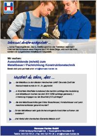 Hermann Harden Anzeige Ausbildung Metallbauer/in